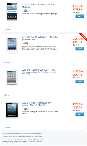 AT&T $100 off iPad and iPad mini
