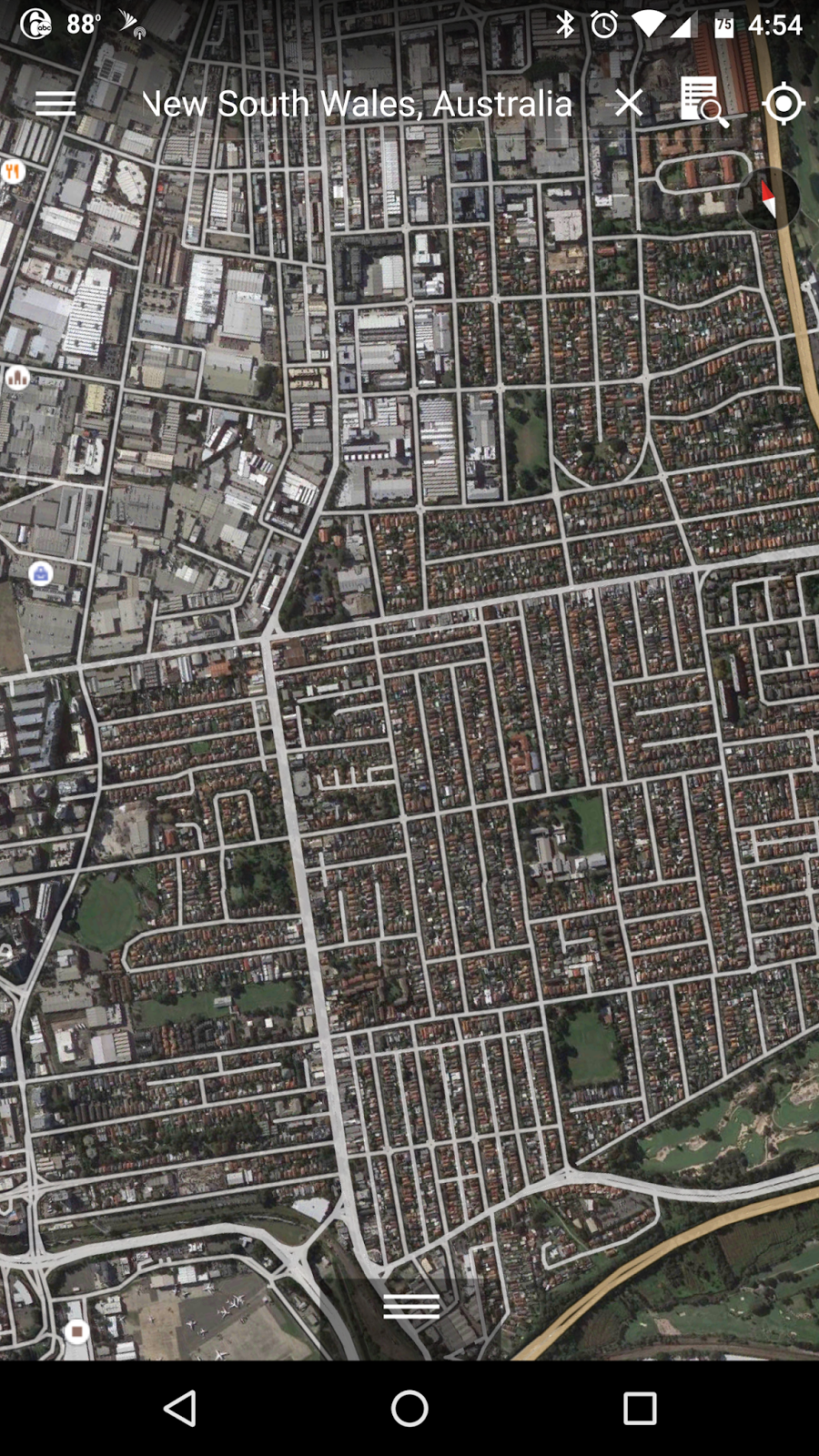 Google Earth Android Support? Not showing streets, towns