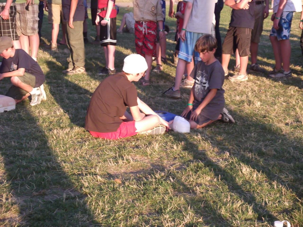 Scott doing CPR
