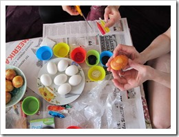 painting easter eggs photo by sue wellington