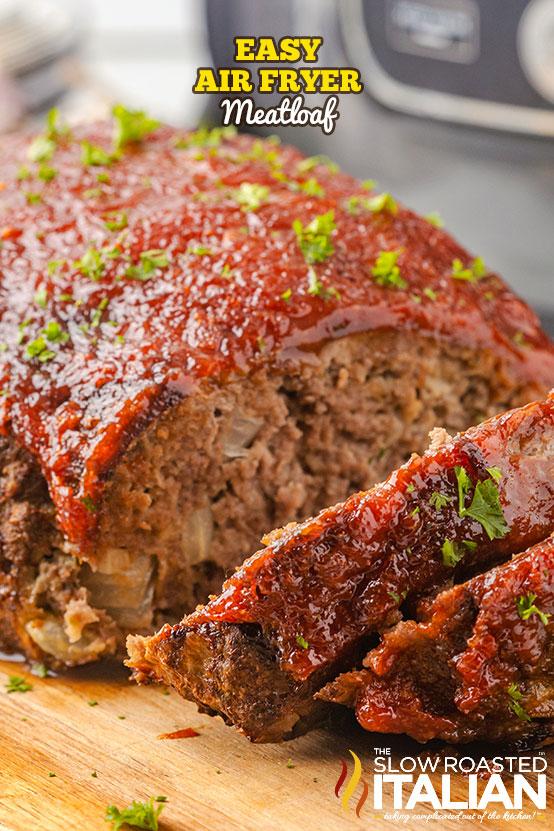 air fryer meatloaf with brown sugar glaze