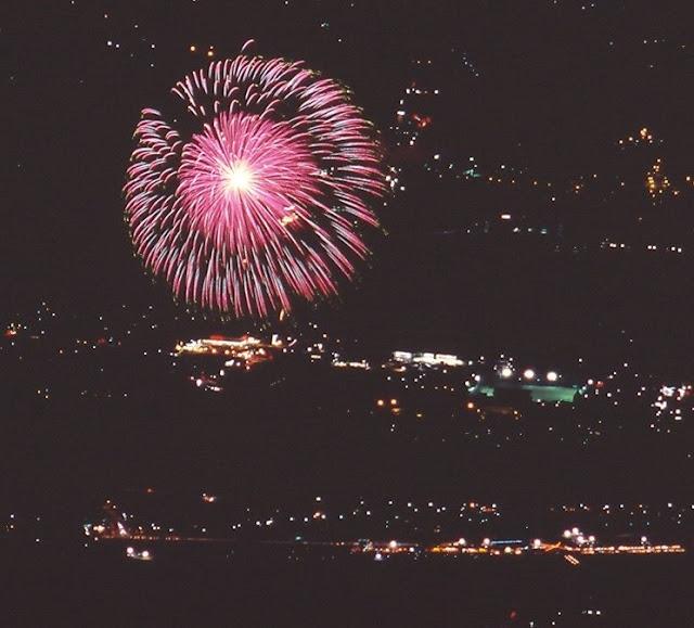 韮崎の花火 フジクロームベルビア