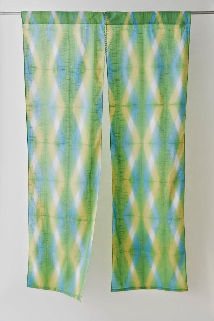 Noren Itajime Hand-dyed Fabric Divider
