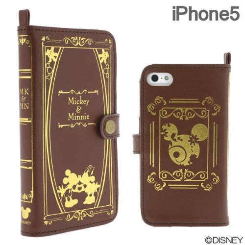 Disney Old Book Case for iPhone5 Mickey & Minnie