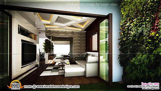 Living room vertical garden