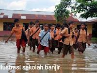 Waspada! Makassar Diguyur Hujan Lebat. Ini Akibat Bila Got Sekolah Dibiarkan Tak Mengalir Atau Buntu