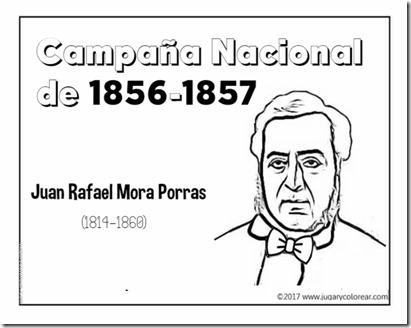 Campaña Nacional  de 1856-1857  rafael mora porras