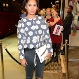 WWW.ENTSIMAGES.COM -    Preeya Kalidas   arriving at       East is East - press night at Trafalgar Studios London October 16th 2014                                                 Photo Mobis Photos/OIC 0203 174 1069