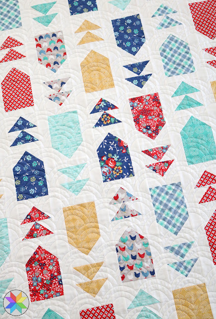 Venture Out quilt pattern in Backyard Blooms fabric - pattern from Fresh Fat Quarter Quilts book by Andy Knowlton