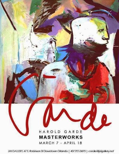 Living Legend - artist Harold Garde at the Jai Gallery