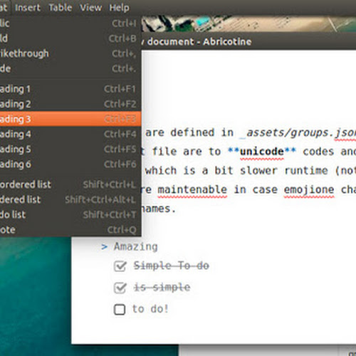 Linux Desktop Markdown Editor Abricotine