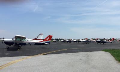CAP Planes in Flight Line at CXY