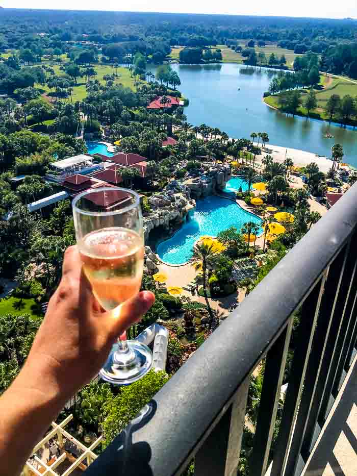 Champagne balcony view Hyatt Regency Grand Cypress
