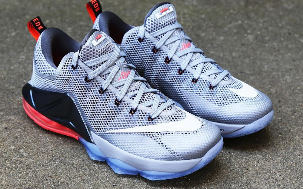 huge discount a7faf 13885 ... Release Reminder Nike LeBron 12 Low Wolf Grey Hot Lava ...