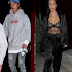 Kourtney Kardashian flashes nipple in see through lingerie on date night with former rumored flame, Justin Bieber (photos)