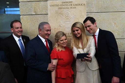 ארוע פתיחת שגרירות ארצות הברית בירושליםראש הממשלה בנימין נתניהו ורעייתו שרה נתניהועם ג'ראד קושנר ואיוונקה טראמפPhoto by Kobi Gideon / GPO