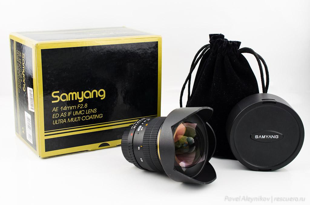 объектива Samyang AE 14mm F2.8 ED AS IF UMC (Chip) для Nikon