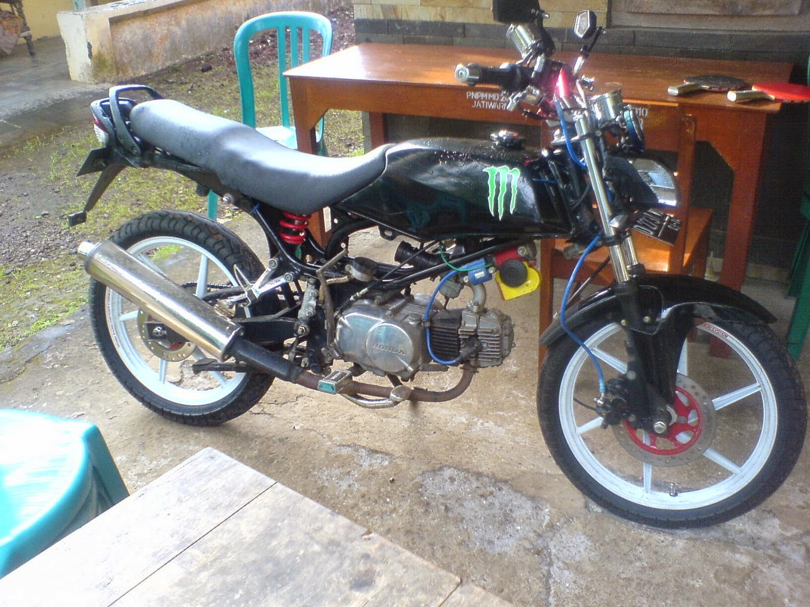 110 Modifikasi Motor Win 100 Jadi Cb Modifikasi Motor Honda CB Terbaru