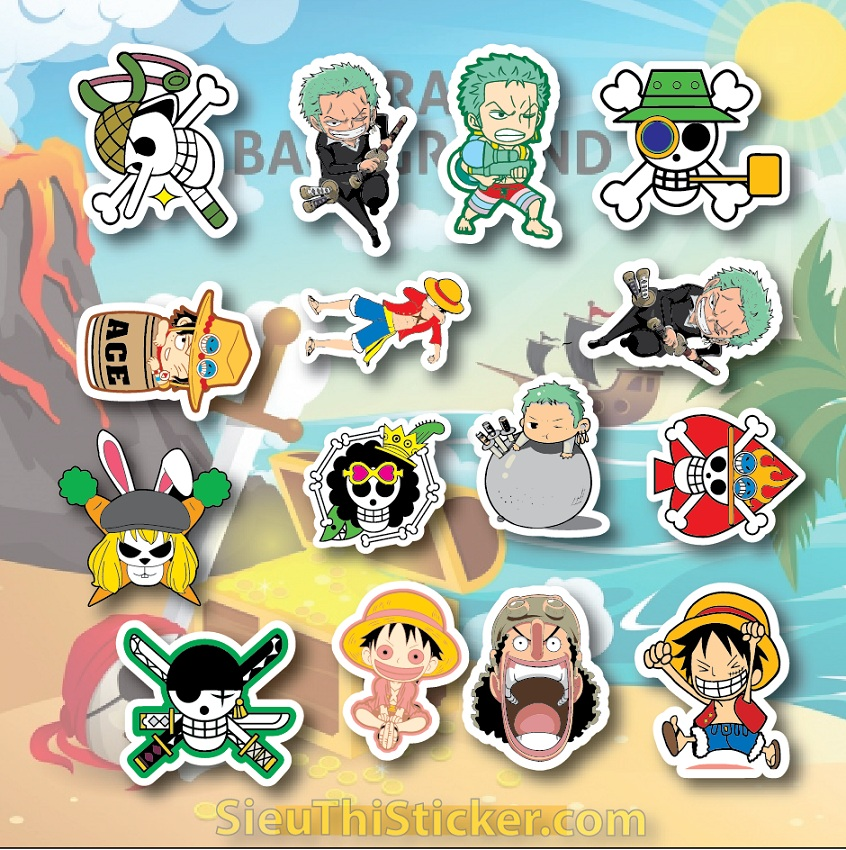 sticker đảo hải tặc