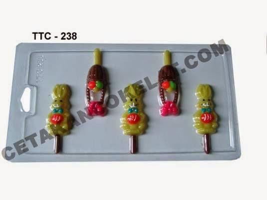 Cetakan Coklat  TTC238 Hewan Kelinci Easter Paskah