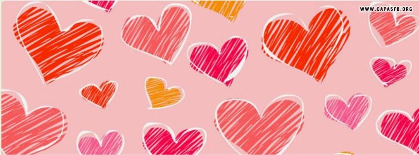 Capas para Facebook Corações