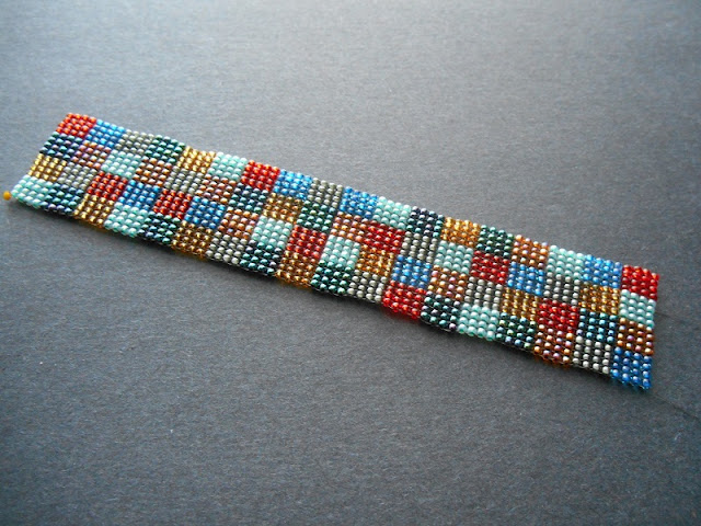 Square Stitch Patchwork Cuff Project