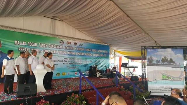 7.2 Juta Projek Memulihkan Koridor Sg Batang Kayan Lundu - Wan Junaidi