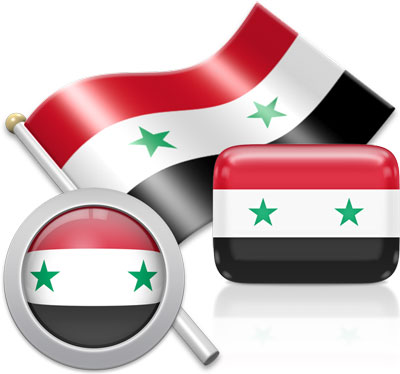 Syrian flag icons pictures collection