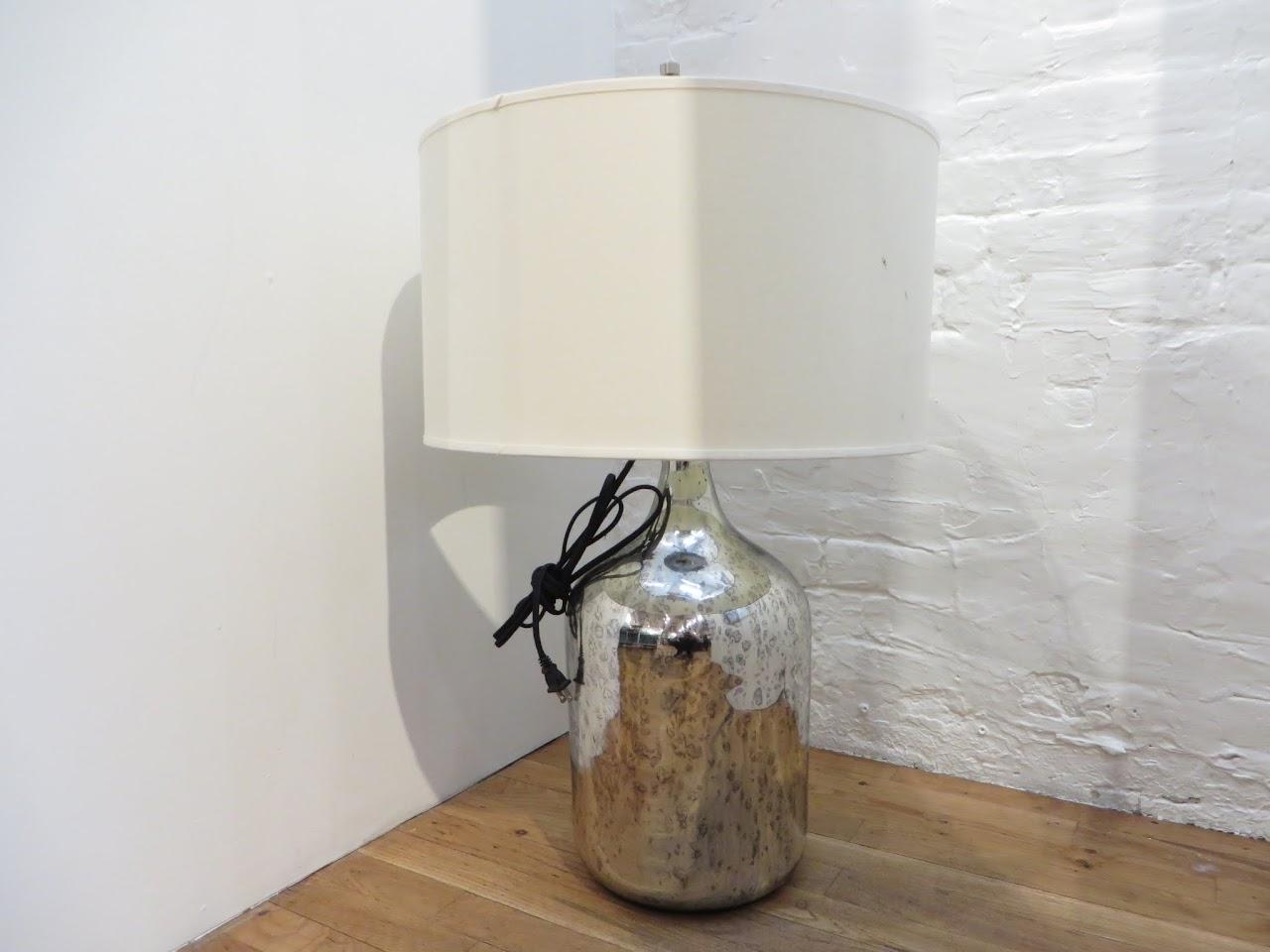 Restoration Hardware Silver Mercury Table Lamp