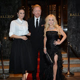 WWW.ENTSIMAGES.COM -    Lilly Becker, Boris Becker and Stacey Jackson   arriving     at       Anti-Slavery International 175th Anniversary Ball at Grosvenor House, London September 27th 2014Ball to celebrate the 175th anniversary of the Anti-Slavery International organisation. The event represents the continued campaign to end modern day slavery.                                                  Photo Mobis Photos/OIC 0203 174 1069