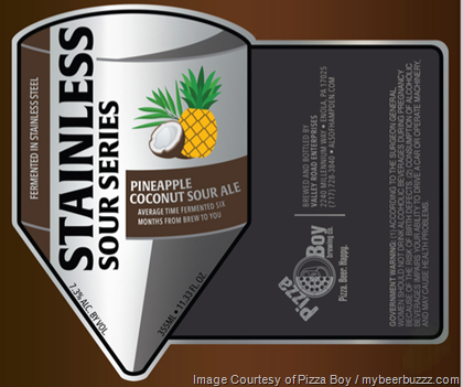 Pizza Boy Adding New Stainless Sour Series - Pineapple