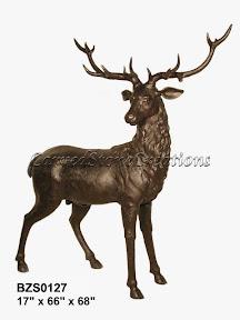 Bronze, Elk, Statue