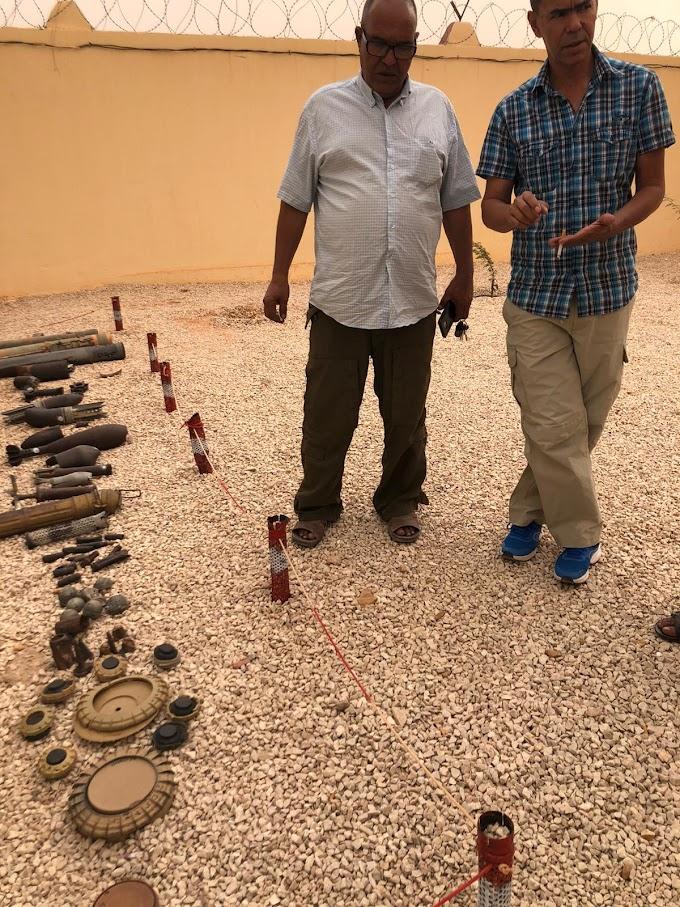 SMACO imparte taller de capacitación para jefes de equipos que trabajan para ONGs extranjeras en el desminado humanitario del Sáhara Occidental
