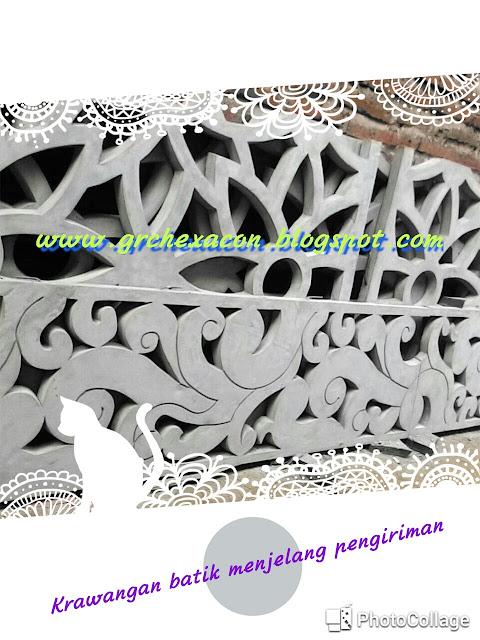 Krawangan batik motif sulur dari GRC HEXACON