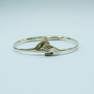 Silver Hands Bracelet