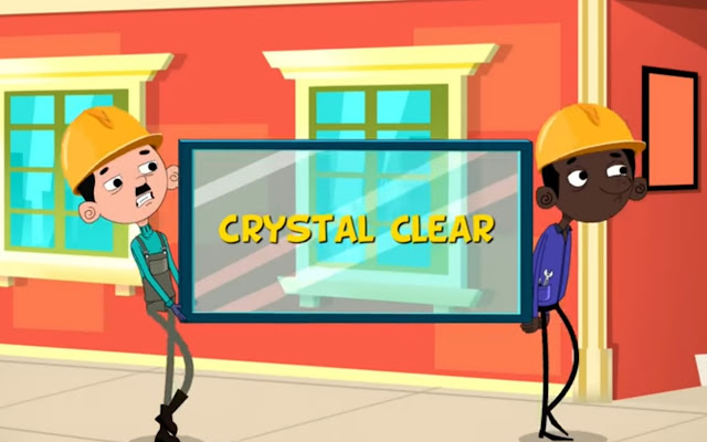 glass is crystal clear