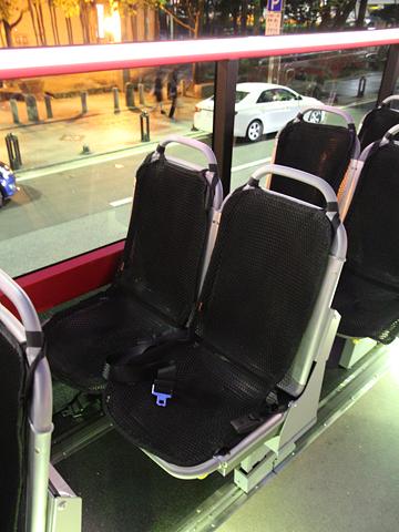 西日本鉄道「福岡オープントップバス」 赤塗装 シート