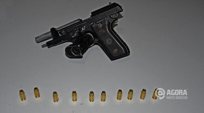 Arma-e-munições-apreendidas-com-suspeito-por-plantonistas-da-1°-DP