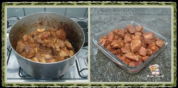 Cubinhos dourados de carne de porco 5