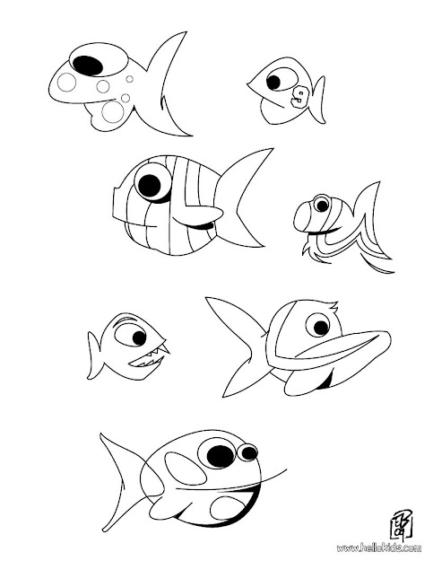 Fishes Fishes Coloring Page