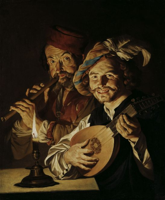 Matthias Stom - The Lautenist and the Flautist