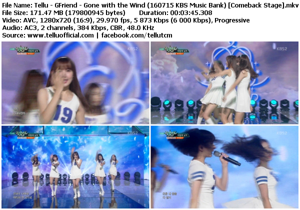 Download perf gfriend gone with the wind navillera kbs music bank 160715 comeback stage - Gone with the wind download ...