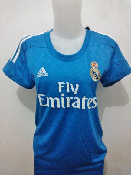 Jual Jersey Wanita Real Madrid Warna Biru