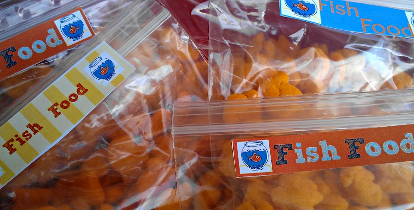 Fish Food Labels for My Goldfish Puffs Snacks #makeitgopuff