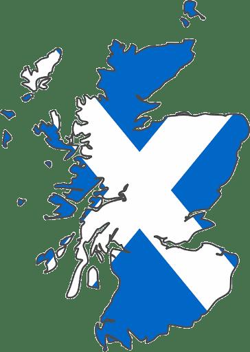 蘇格蘭地圖與國旗