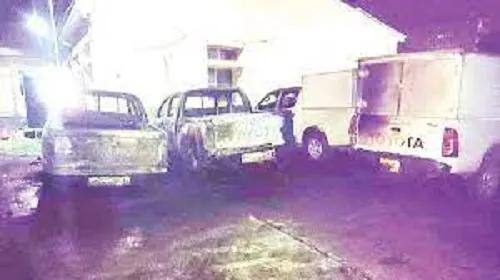 Hoodlums Set INEC Headquarters In Enugu Ablaze