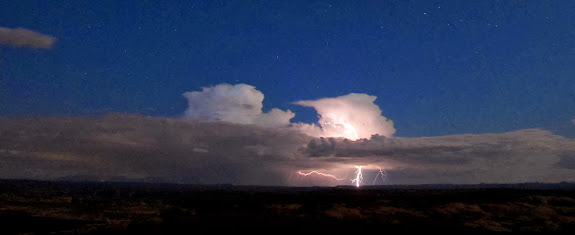 Lightning south of Moab