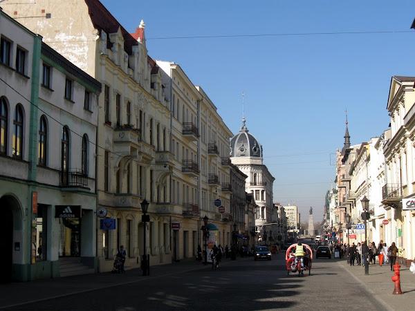 centrum Łodzi - ulica piotrkowska