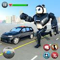 Police Panda Robot Transformation: Robot Shooting icon