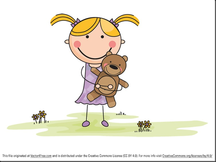 Preview_-_Cartoon_Girl_with_Stuffed_Animal_in_Field